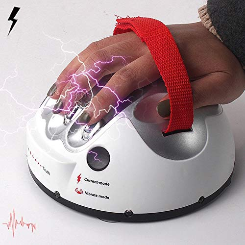 EbuyChX Creative Micro Electric Shock Lie Detector Truth Game Polygraph Toy Silver