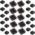 Easycargo 30pcs Heatsink Kit Aluminum + 3M 8810 Thermal Conductive Adhesive Tape for Cooling Raspberry Pi 4 B, 3 B+, VRM VRAM VGA GPU IC Chips RAM (30 pcs)