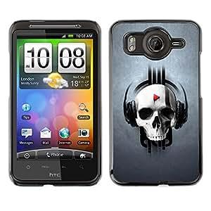 TECHCASE**Cubierta de la caja de protección la piel dura para el ** HTC G10 ** Skull Beat Play