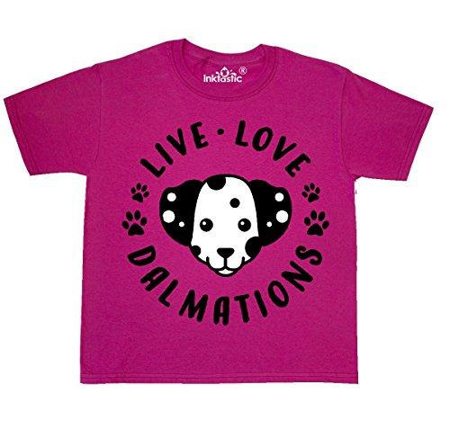 inktastic - Live Love Youth T-Shirt Youth Medium (10-12) Cyber Pink 312dd