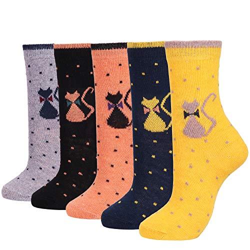Womens Lightweight Soft Knit Wool Cozy Crew Socks Ladies Cute Comfy Casual Sock