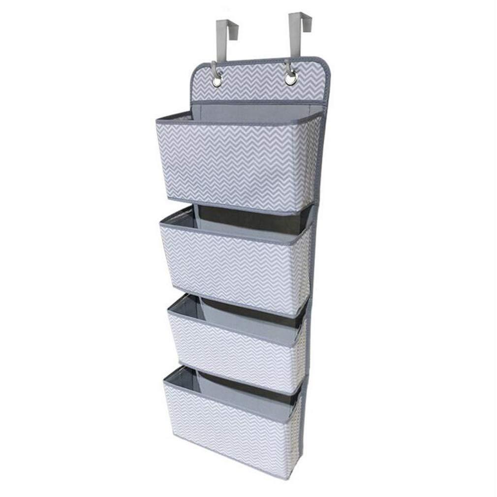 4 23 36 AEKKA Organizador de Pared Organizador Puerta Bolsa de Almacenamiento de Vestuario Multifuncional Zapatos 4 Rejilla Bolsa Colgante 5cm
