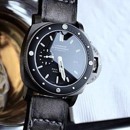 Custom 22mm Handmade Premium Calf Leather Watch Band Gunny Straps - Caitlin 5