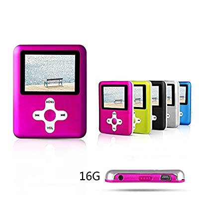 ACEE DEAL 16GB MP3/MP4 Player with the cross button MINI USB Port Classic Digital Slim Compact MP3 Player, Supporting Music/Video Playing, Photo Viewing, Radio, E-book and Voice Recorder