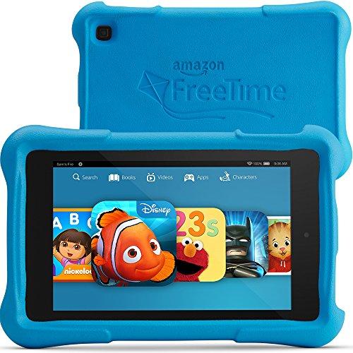"""Fire HD 7 Kids Edition Tablet, 7"""" HD Display, Wi-Fi, 8 GB, Blue Kid-Proof Case"""