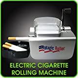 Cigarette Rolling Machine Automatic Electronic Cigarette Injector Roller by Magic Roller - Color Silver 110 Volts produce 100mm sized cigarettes - Easy to Operate, Jam Protection, Fast and Productive