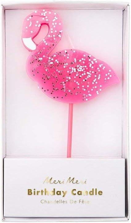 DIY Cake Cupcakes Birthday Party Decorations Large Flamingo Candle Meri Meri Pink