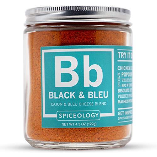 (Spiceology Black & Bleu Rub - Cajun & Blue Cheese Spice Rub - Cajun Seasoning - BBQ Rub - 4.3 ounces)