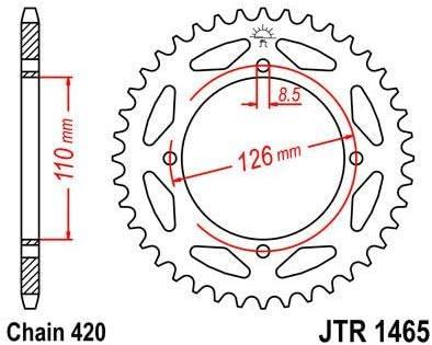 JT Steel Rear Sprocket Standard 420 // 47T 00-19 KAWASAKI KX65