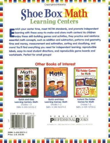 Counting Number worksheets math and money worksheets : Amazon.com: Shoe Box Math Learning Centers: Forty Easy-to-Make ...