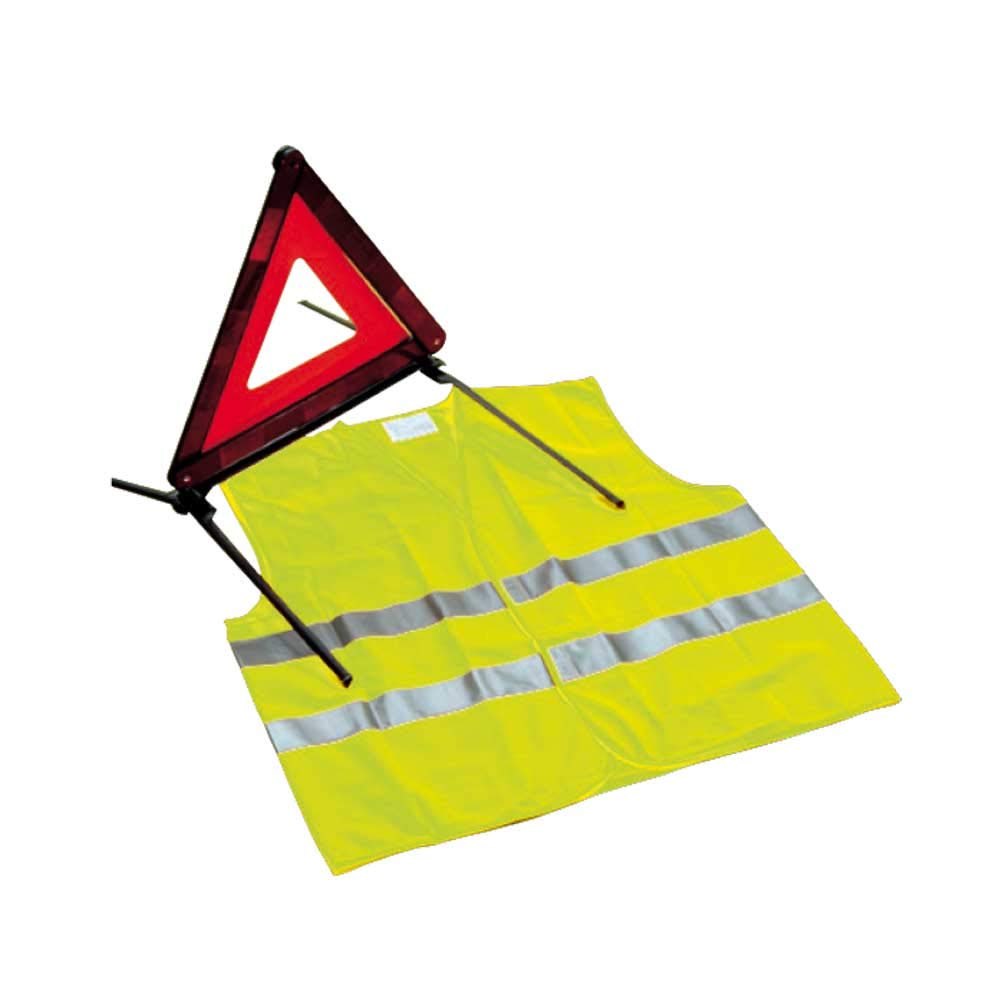 Holthaus Medical Warnweste Sicherheitsweste Panne Unfall KFZ, gelb, ISO 20471, Klasse 2