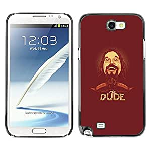 Be Good Phone Accessory // Dura Cáscara cubierta Protectora Caso Carcasa Funda de Protección para Samsung Note 2 N7100 // Dude Beard Hipster Man Portrait Drawing