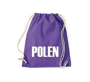 Camiseta stown Turn Bolsa Polonia País Países Fútbol, color morado, tamaño 37 cm x