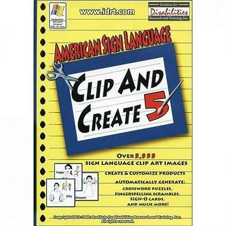 Amazon.com: American Sign Language Clip and Create 5 - ASL Clip ...