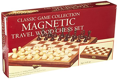 John N. Hansen Travel Magnetic Walnut Chess Set