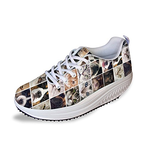 CHAQLIN Leisure Slimming Rocking Shoes Ladies Cross Strap Breath Wedges Flats Sneakers US10 - Classic Cross Pressure Balance