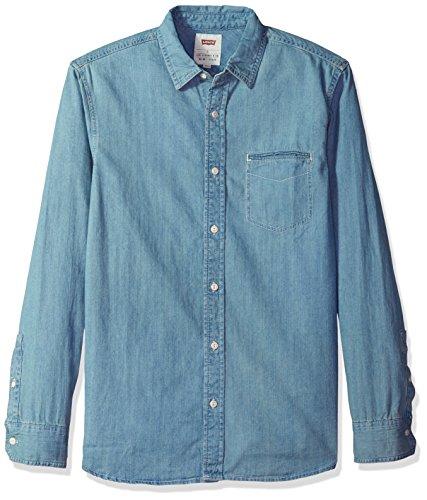 - Levi's Men's Greg Classic Denim Button Down Shirt, Light Stonewash, 2X Large