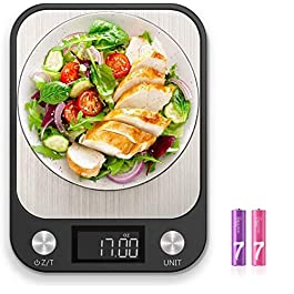 Dieternal Digital Food Kitchen Scale Weight Grams and Ounces with 1g/0.1oz Precise Increment for Cooking Baking Coffee…