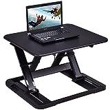 Tangkula Standing Desk Home Office 8 Height Adjustable Riser Sit-Stand Laptop Desk (Black)