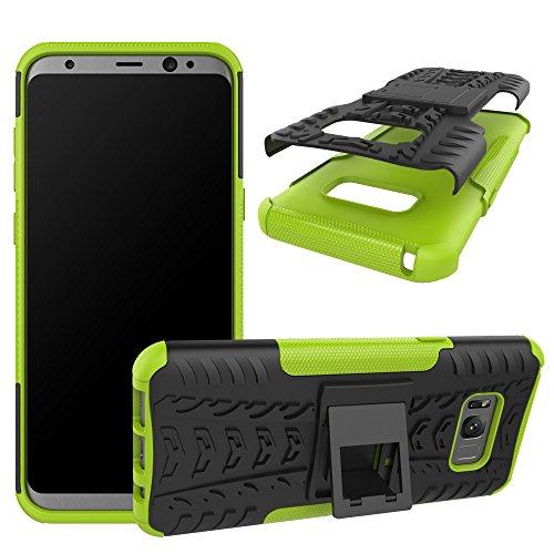 OFU®Para Samsung Galaxy S8 Plus 6.2 Smartphone, Híbrido caja de la armadura para el teléfono Samsung Galaxy S8 Plus 6.2 resistente a prueba de golpes contra la lucha de viaje accesorios esenciales d verde