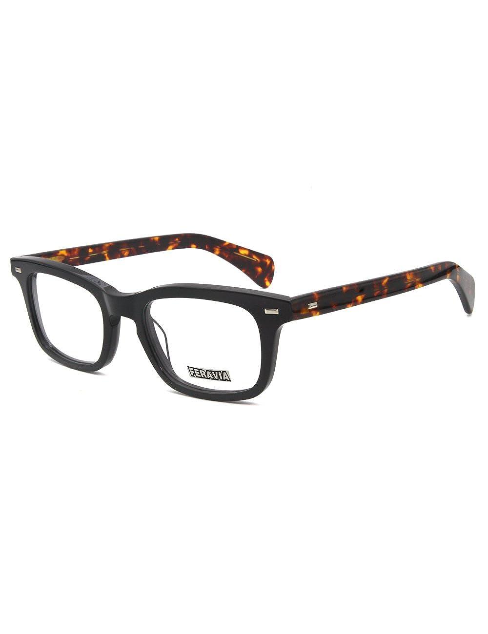 Men Eyeglasses Strong Look Bold Rectangular Clear Lens Two Toned Acetate Lixin Glasses