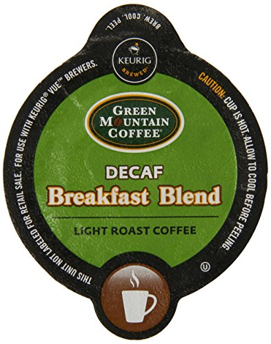 Green Mountain Coffee Breakfast Blend Decaf, Vue Packs for Keurig Vue Brewers (32 Count) (Mountain Breakfast Green Decaf)