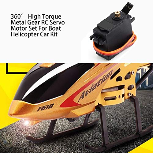 deYukiko 360/° High Torque Metal Gear RC Servo Motor Set for Boat Helicopter Car Kit
