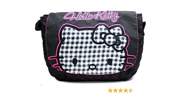 Amazon.com  Hello Kitty Black Quilted Sequins Face Laptop Bag Messenger Bag  - up go 14.5