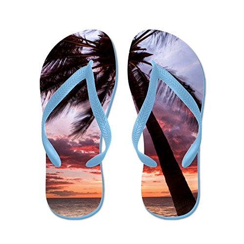 CafePress - Maui Hawaii Coconut Palm Tree Sunset - Flip Flops, Funny Thong Sandals, Beach (Palm Tree Slipper)