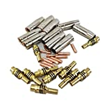 30pcs 15AK Torch/Gun Consumables, Gas Nozzle/Tips/Holder Tips, for MIG/MAG Welding Machine (0.8mm)