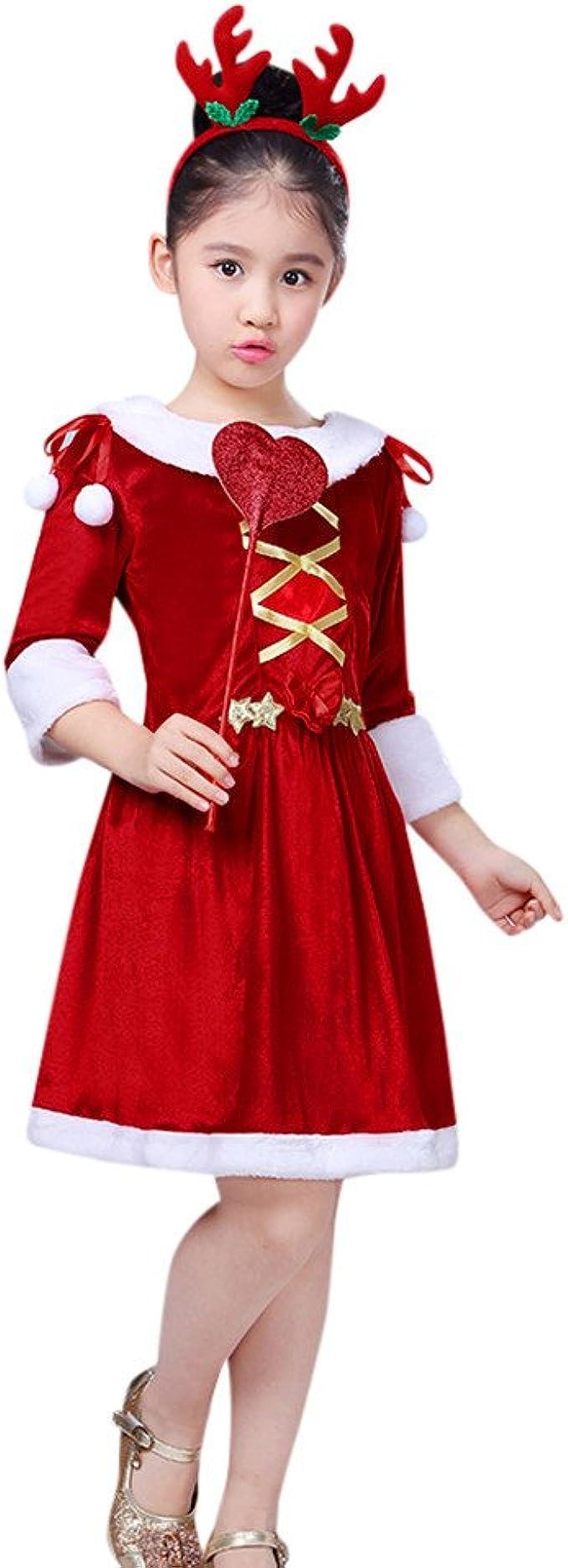 Disfraz Navidad Niña 4-5 años Vestido + Diadema + Varita mágica ...