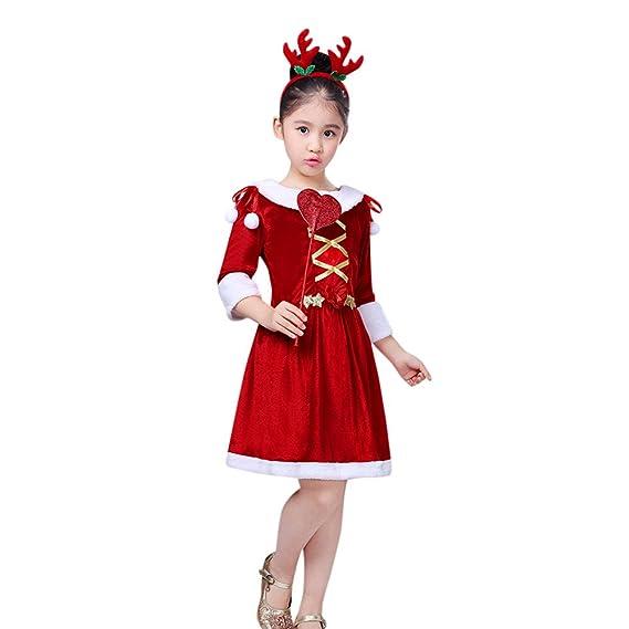 Disfraz Navidad Niña 4-5 años Vestido + Diadema + Varita ...
