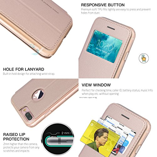 Folio G-Case Sense Gold pour iPhone 7+