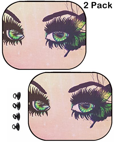 Fantasy Long Seat - MSD Car Sun Shade Protector Side Window Block Damaging UV Rays Sunlight Heat for All Vehicles, 2 Pack Image ID 23643085 Beautiful Fantasy Green Eyes with Long Black Lashes and Butterfly