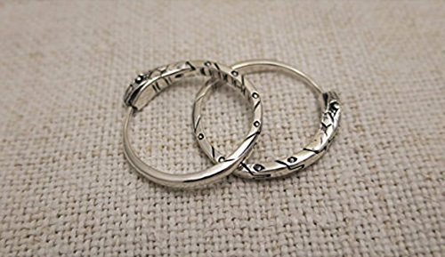 Ouroboros earrings sterling silver 22 mm about 4 gm pair unisex