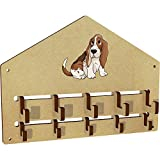 Azeeda 'Basset Hound' Wall Mounted Coat Hooks / Rack (WH00034544)
