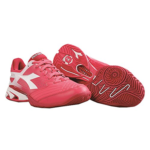 Diadora Damen Tennisschuhe Speed Star K IV AG Pink Weiß