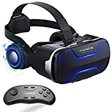 VR Headset with Remote Controller Stereo Headphones for...