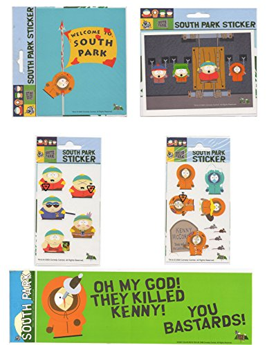 Kenny From South Park - LOT 5 pcs Stickers decal South