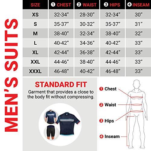 Louis Garneau Men's Tri Comp Breathable, Padded, Sleeveless Triathlon Cycling Suit, Black/Gray/Red, Medium by Louis Garneau (Image #2)