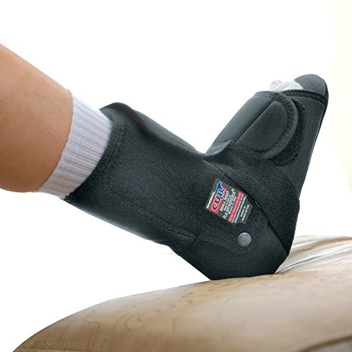 Healwell Cub Plantar Fasciitis Resting Comfort Slipper. Left. Medium. Black