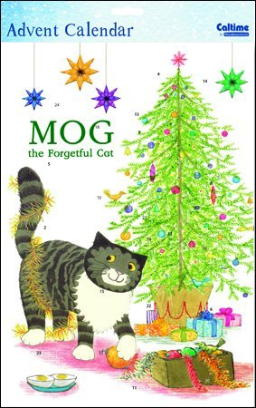 Sticker Advent Calendar (WDM0116) - Mog the Forgetful Cat - Decorating the Tree Woodmansterne