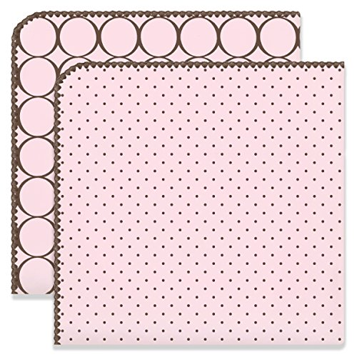 SwaddleDesigns Ultimate Swaddles, Set of 2, X-Large Receiving Blankets, Made in USA Premium Cotton Flannel, Mod Circles and Polka Dots, Pastel Pink (Mom's Choice Award -