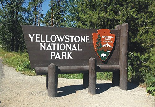 Park Entrance (Yellowstone National Park, Entrance Sign, California, Magnet 2 x 3 Photo Fridge Magnet)