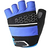 ZPWSNH Gloves Outdoor Equipment Unisex Soft Breathable Cycling Gloves Riding Gloves Ridding Gloves (Color : Blue)
