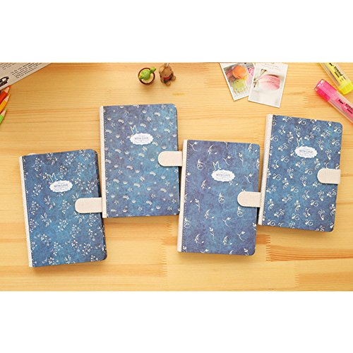 ETbotu Notebook 32K Retro Style Thick Notebook with Magnetic Buckle Stationery Office Supplies (Random Colour) (83 Key Notebook)