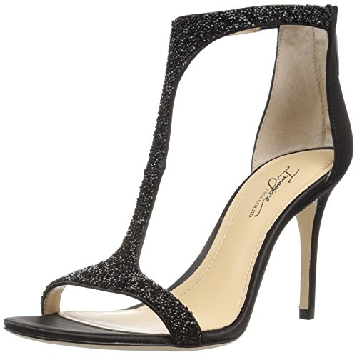 Imagine Vince Camuto Women's Im-Phoebe Dress Sandal, Black/Black, 9 M US