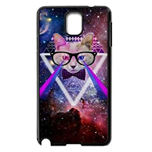 Galaxy Hipster Cat Use Your Own Image Phone Case for Samsung Galaxy Note 3 N9000,customized case cover ygtg550533