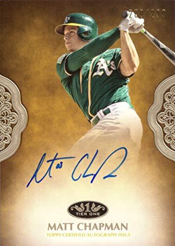 - 2019 Topps Tier One #PPA-MCH Matt Chapman Certified Autograph Baseball Card - Only 299 made!