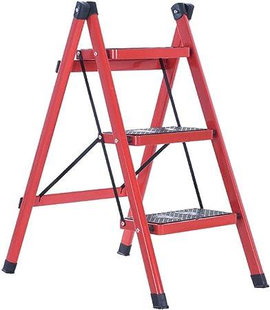 HRH Escalera Antideslizante Escalera Muebles Pabellón Escalera Plegable Etapa Flor Rojo Soporte Escalera Escalera Escalera Inicio de Escala 42 * 68 * 81cm (Color : A, Size : 42 * 68 * 81cm): Amazon.es: Hogar
